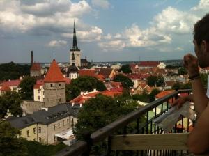 Utsikt över Tallin.