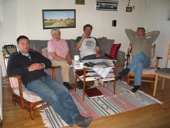 Tobbe, Gunvor, Krille och Göran.