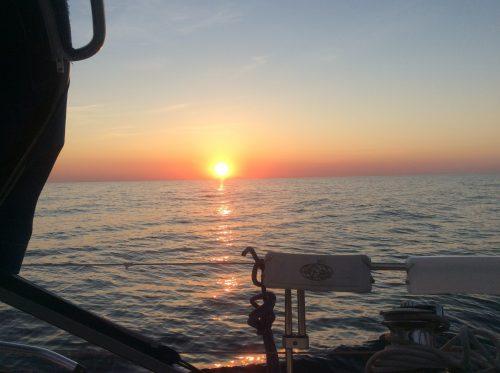 Solnedgång på Hanöbukten