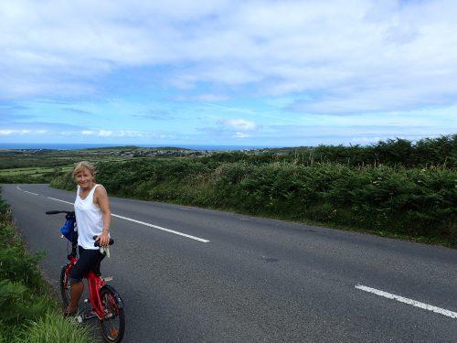 Cykeltur tvärs över Cornwall mot St Ives. Det var uppförsbackar i 3-4 Miles innan vi äntligen såg havet på andra sidan.