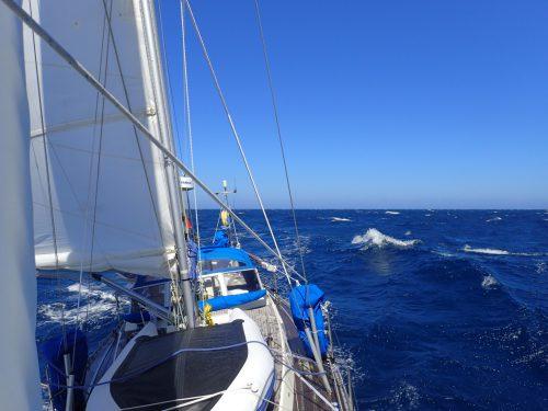 Forsande segling den sista tredjedelen på Biscaya