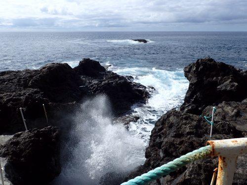Den här viken bredvid saltvattenbassängen användes som en naturlig hamn tidigare...