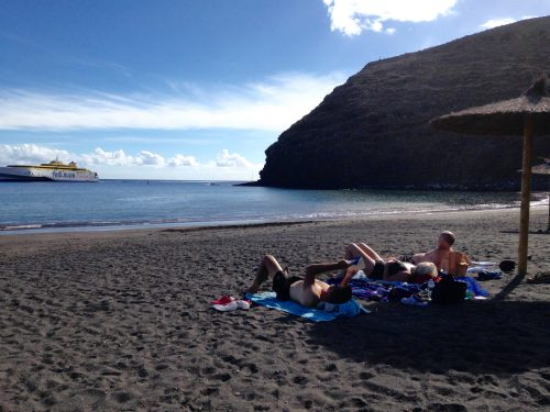 Vi njöt lite strandliv i San Sebastian.