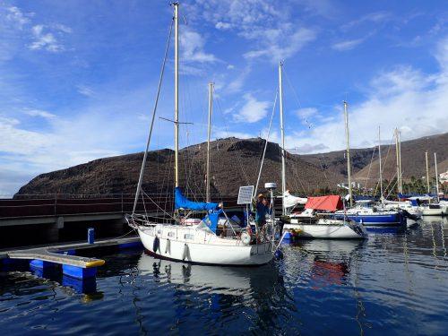 Gamla vännerna Micke och Jeanette i sin Monsun 31a Dreyma dök upp i San Sebastian dagen innan vi skulle iväg. Kul att ses igen!