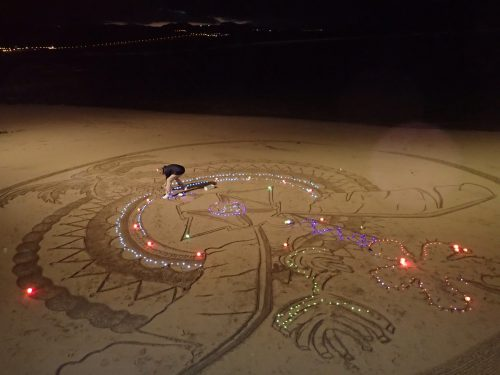 Sandkonstnär på Las Canteras.