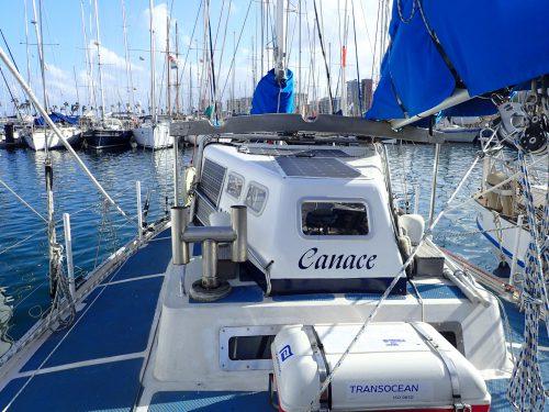 I marinan ligger Canace med Veikko och Hanna. Kul att ses igen.