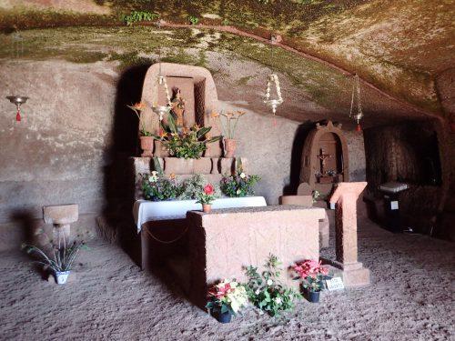 Eremita de Cuevita, i en grotta var det ett litet kapell.
